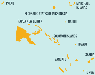 Map of South-East Asia where we invest in Tuna Fisheries